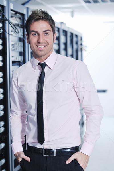 Stock fotó: Fiatal · adatközpont · szerver · szoba · jóképű · üzletember