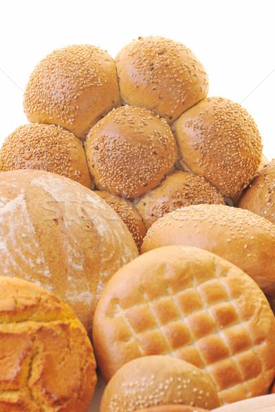 свежие хлеб продовольствие группа здорового природного Сток-фото © dotshock