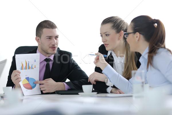 Ludzi biznesu grupy spotkanie zespołu świetle nowoczesne Zdjęcia stock © dotshock