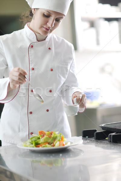 chef preparing meal Stock photo © dotshock