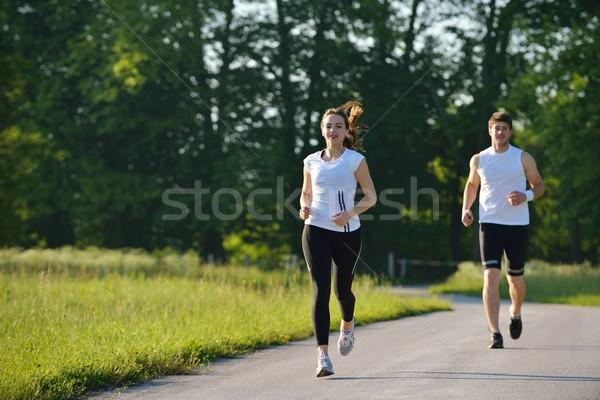 couple jogging Stock photo © dotshock