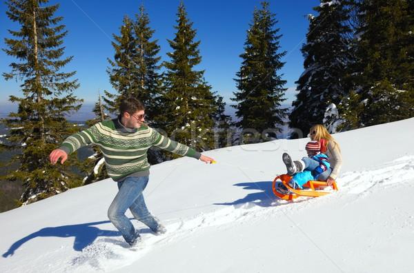 家庭 新鮮 雪 冬天 假期 商業照片 © dotshock