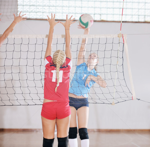 Сток-фото: девочек · играет · волейбол · игры · спорт