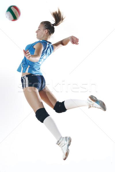 Jogar voleibol jogo esportes jovem mulheres Foto stock © dotshock