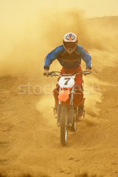 Motocross bicicleta raça acelerar poder extremo Foto stock © dotshock