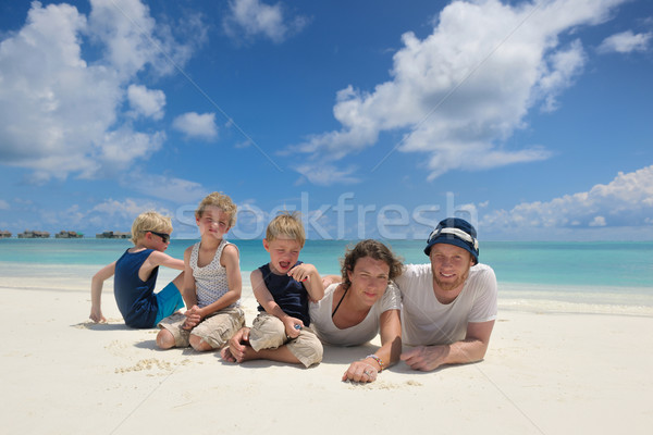 happy family on vacation Stock photo © dotshock