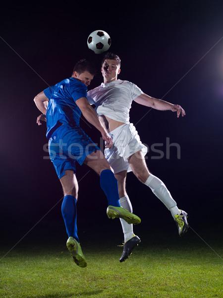 Fútbol jugadores duelo fútbol equipo jugador Foto stock © dotshock