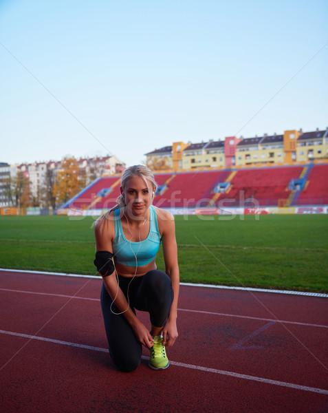 Kobieta młodych runner Zdjęcia stock © dotshock
