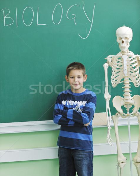 öğrenmek biyoloji okul mutlu çocuklar grup Stok fotoğraf © dotshock