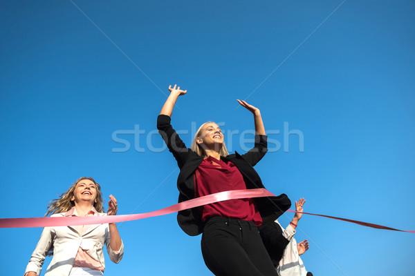 üzletemberek fut versenyzés útvonal együtt üzlet Stock fotó © dotshock