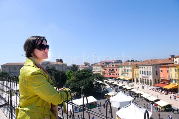tourist woman in verona Stock photo © dotshock