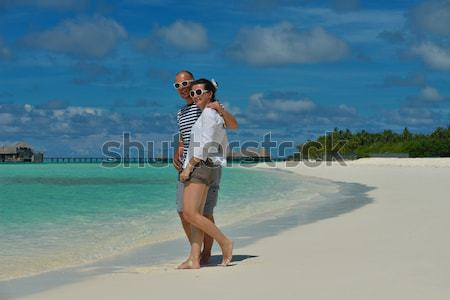 beautiful gril on beach have fun Stock photo © dotshock
