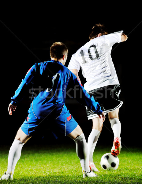 Football joueurs action balle concurrence courir Photo stock © dotshock