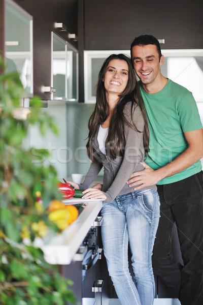 Jovem amor casal fresco manhã Foto stock © dotshock