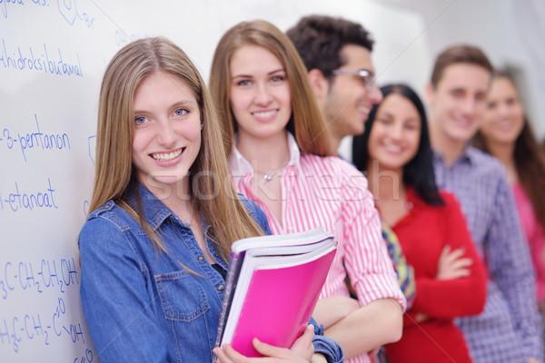 happy teens group in school Stock photo © dotshock