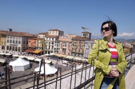 美人 ヴェネツィア 美しい 観光 女性 ストックフォト © dotshock