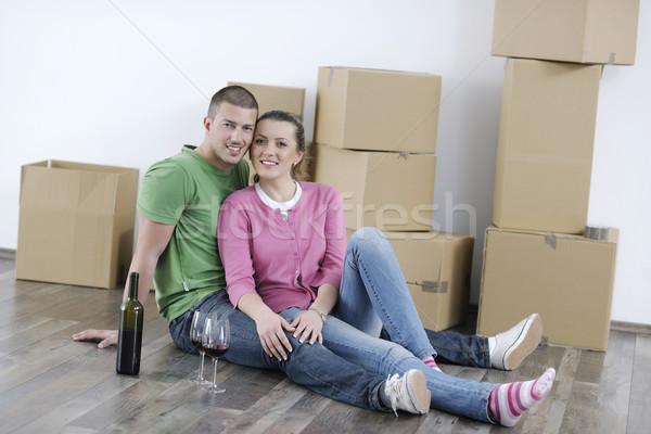 移動 新居 幸せ 女性 男 ストックフォト © dotshock