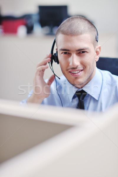 ビジネスマン ヘッド 肖像 明るい コールセンター ヘルプデスク ストックフォト © dotshock