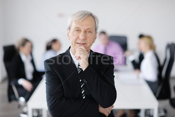Foto stock: Gente · de · negocios · equipo · reunión · luz · moderna · oficina