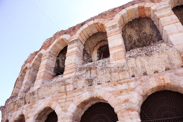 Verona antigo italiano cidade céu casa Foto stock © dotshock