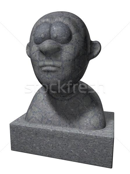 Stock photo: cartoon bust