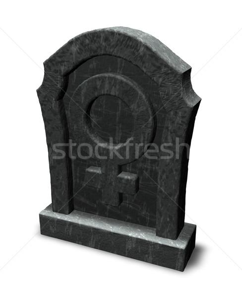 female symbol on gravestone Stock photo © drizzd