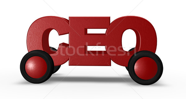 ceo on wheels Stock photo © drizzd