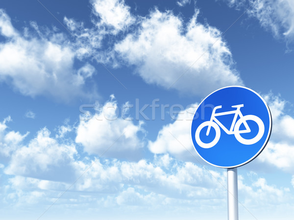 roadsign bicycle Stock photo © drizzd