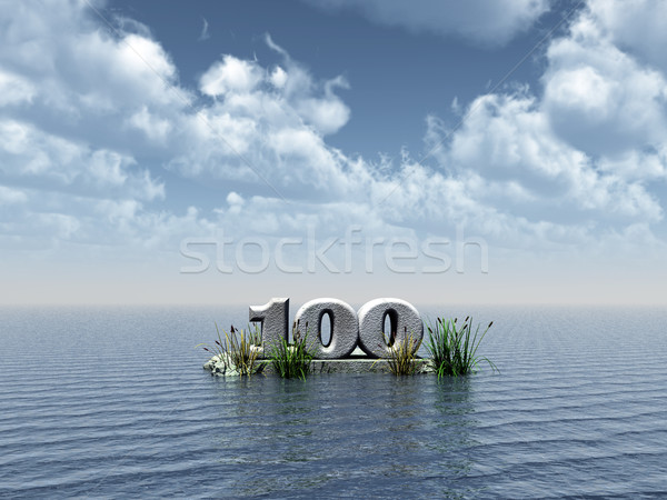 monument one hundred Stock photo © drizzd