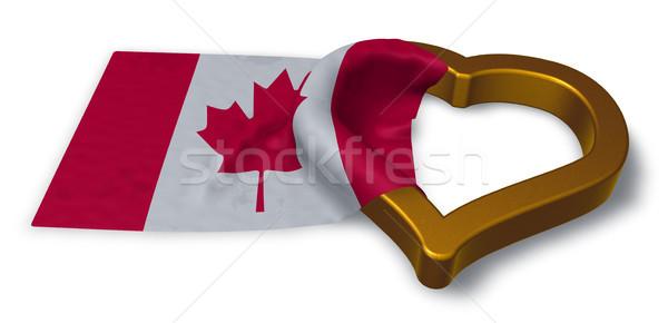 Stockfoto: Vlag · hart · symbool · 3D · huwelijk