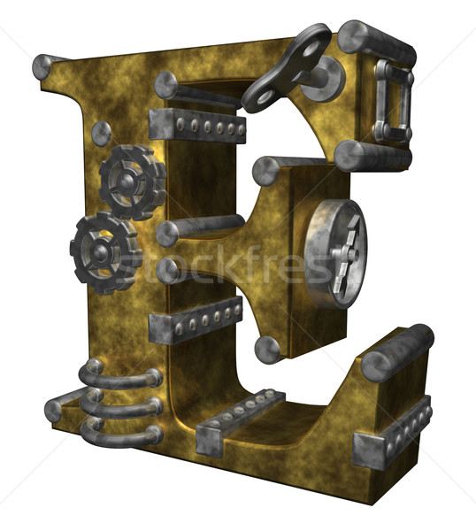 Steampunk blanche 3d illustration horloge technologie Photo stock © drizzd