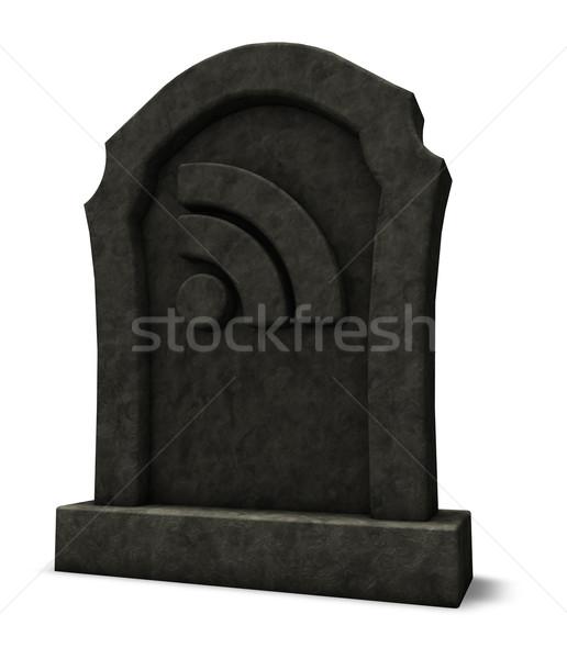 Rss 死んだ シンボル 墓石 3次元の図 コンピュータ ストックフォト © drizzd