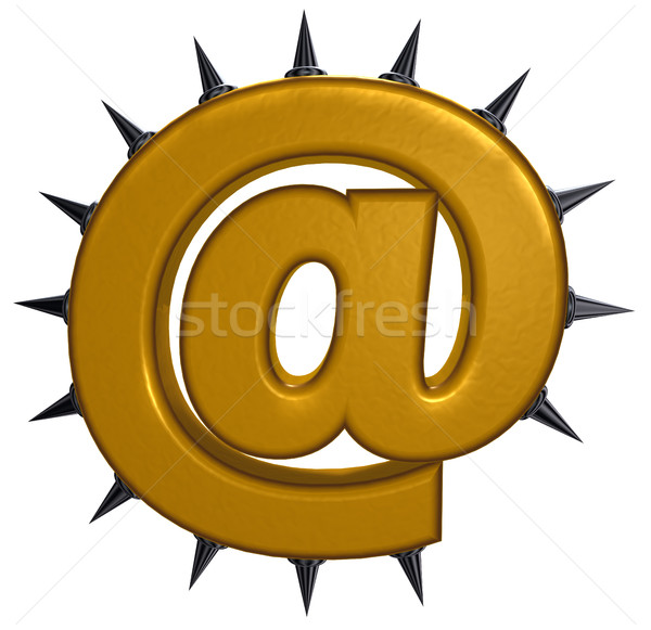 email symbol with prickles on white background- 3d illustration Stock photo © drizzd