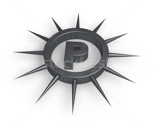 spiky letter p Stock photo © drizzd