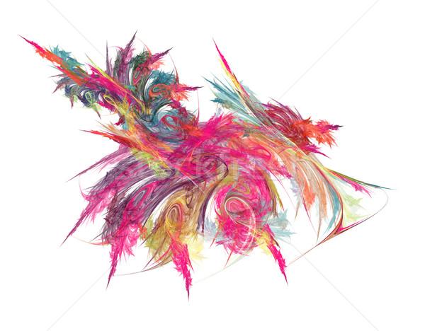 Kolorowy streszczenie chaos linie fale farby Zdjęcia stock © drizzd