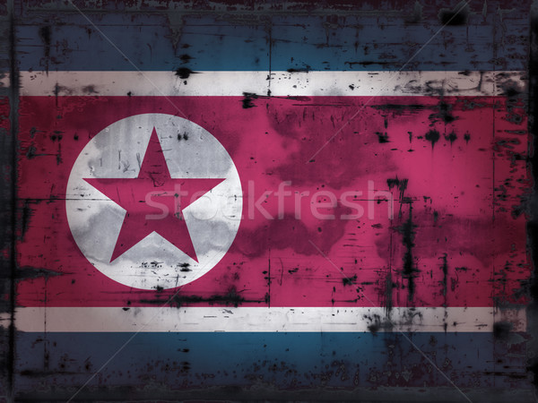 grunge north korea flag Stock photo © drizzd