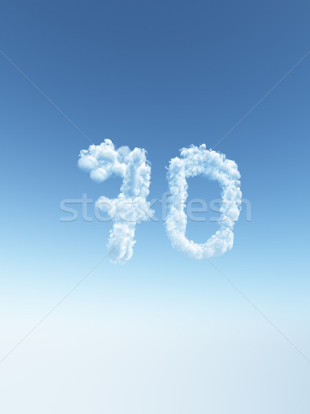 cloudy seventy Stock photo © drizzd