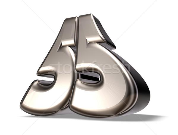числа пятьдесят пять металл белый 3d иллюстрации Сток-фото © drizzd