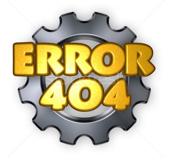Errore di 404 pagina non messaggio attrezzi Foto d'archivio © drizzd