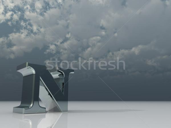 Foto stock: Cromo · metal · escuro · nublado · céu