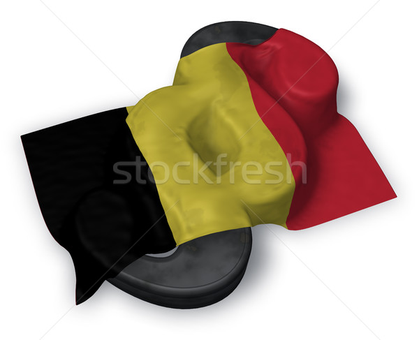 paragraph symbol and belgian flag - 3d rendering Stock photo © drizzd