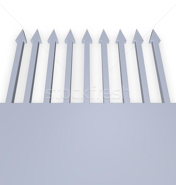 arrows upward on white background - 3d illustration Stock photo © drizzd