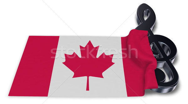 clef symbol and canadian flag - 3d rendering Stock photo © drizzd