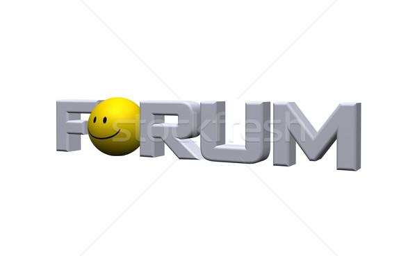 Forum mot blanche 3d illustration sourire Photo stock © drizzd