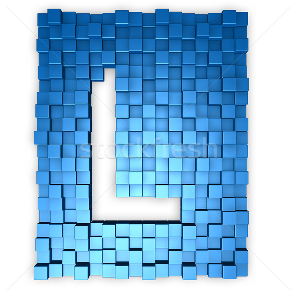 Letter l vorm 3d illustration gebouw achtergrond Stockfoto © drizzd