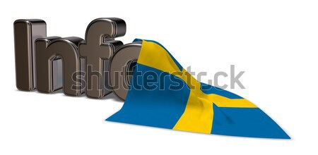 Duitsland info woord vlag 3D Stockfoto © drizzd