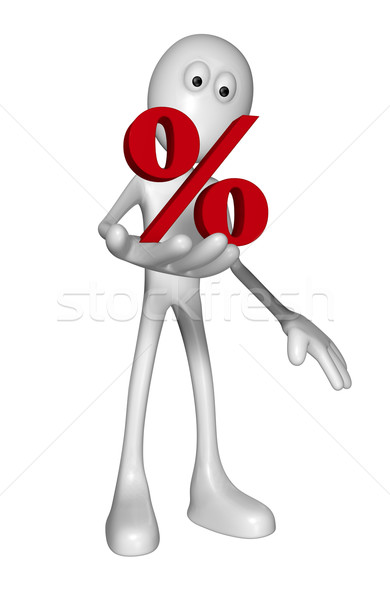 Stock photo: percent symbol