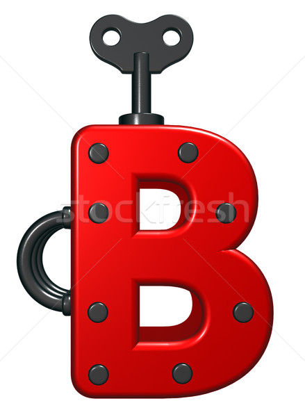 uppercase letter b with decorative pieces - 3d rendering Stock photo © drizzd