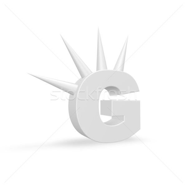 letter g with prickles Stock photo © drizzd