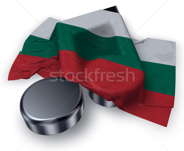music note symbol and bulgarian flag Stock photo © drizzd